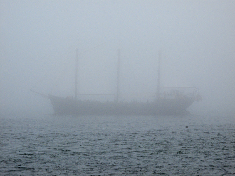 Tourist three master lost in the fog in Halifax Nova Scotia