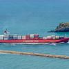 Cargo ship 'Spirit of Sydney' enters Otago Harbour