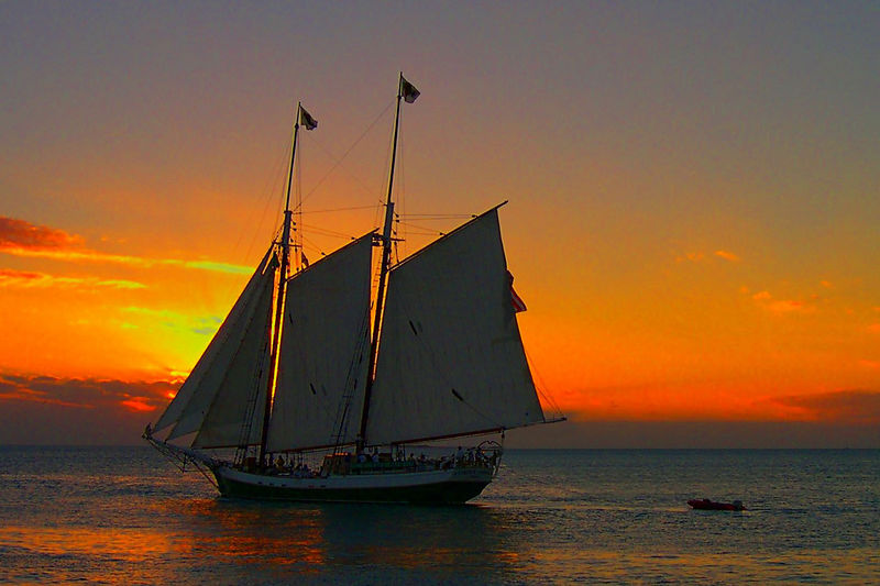 Sunset from Mallory Square, Key West, FL
