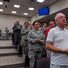 Current members and retirees from 101st Air Refueling Wing were on hand to recognize Chief Master Sgt. Julie Peer and her family, during her retirement ceremony, at the Regional Training Institute, Bangor, ME, Aug. 6, 2016.  Maine National Guard Adjutant General, Brig. General Douglas Farnham presented peer with a Meritorious Service Metal not only for her out standing performance as the Airfield Manager but she also managed the annual full time employee party for over a decade and spearheaded the awards program for the Operations Group.vPeer has been a long time volunteer and liaison between the 101st Air Refueling Wing and the Maine Veterans' Home, she was instrumental in coordinating volunteers for Veteran centric events like, lunch with the Commander, tea party for female Veterans, dances, cookouts and the resident care week celebration.  Peer and her husband, Maine State Command Chief Robert Peer had separate retirement ceremonies on the same day and plan to travel North America in a RV with their dog Crandell.  (U.S. Air National Guard Photo by Master Sgt. Jon Duplain /Released)