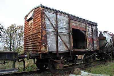 12t Vent Van 508682 at the Walker Line Sidings, Bodmin  03/12/11