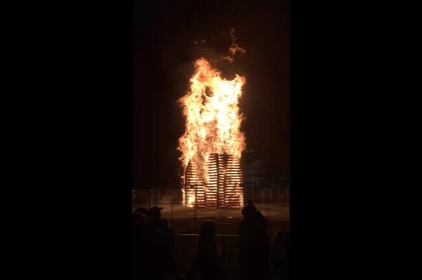 Dartmouth homecoming bonfire 2018.