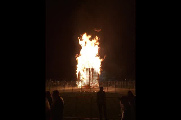 Dartmouth homecoming bonfire 2018.