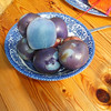 Locally grown 'Aztec' potatoes - and 'yes' they are supposed to be purple.