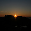 Sun setting behind the Daisy Rock on the Summer Solstice 2009