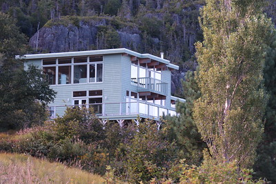 "Our Woody Point home for a week is locally dubbed ""the Glass House""."
