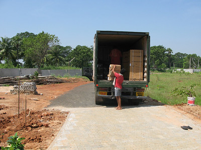 After arrival in Chennai, and clearing customs, the boxes arrived in ELuru.