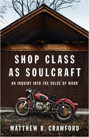 Philosopher and motorcycle repair-shop owner Crawford extols the value of making and fixing things in this masterful paean to what he calls manual competence, the ability to work with one's hands.<br /> <br /> According to the author, our alienation from how our possessions are made and how they work takes many forms: the decline of shop class, the design of goods whose workings cannot be accessed by users (such as recent Mercedes models built without oil dipsticks) and the general disdain with which we regard the trades in our emerging information economy. <br /> <br /> Unlike today's knowledge worker, whose work is often so abstract that standards of excellence cannot exist in many fields (consider corporate executives awarded bonuses as their companies sink into bankruptcy), the person who works with his or her hands submits to standards inherent in the work itself: the lights either turn on or they don't, the toilet flushes or it doesn't, the motorcycle roars or sputters.<br /> <br /> With wit and humor, the author deftly mixes the details of his own experience as a tradesman and then proprietor of a motorcycle repair shop with more philosophical considerations.