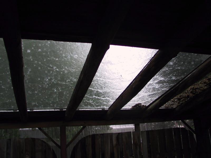rain on patio