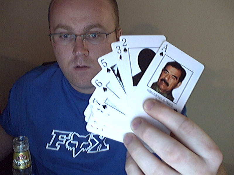Terrorist ID playing cards