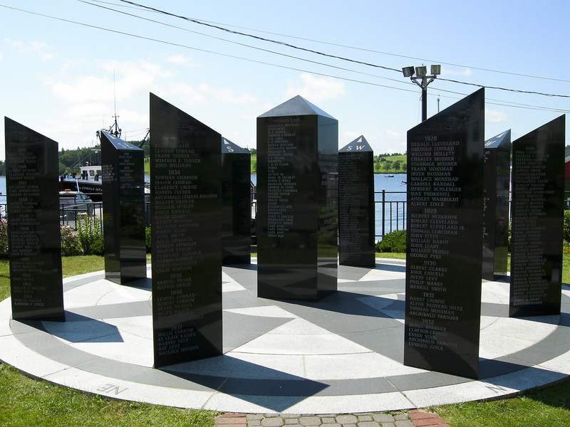 Monument in Lunenburg memorializing lost fishermen