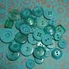robins egg blue buttons