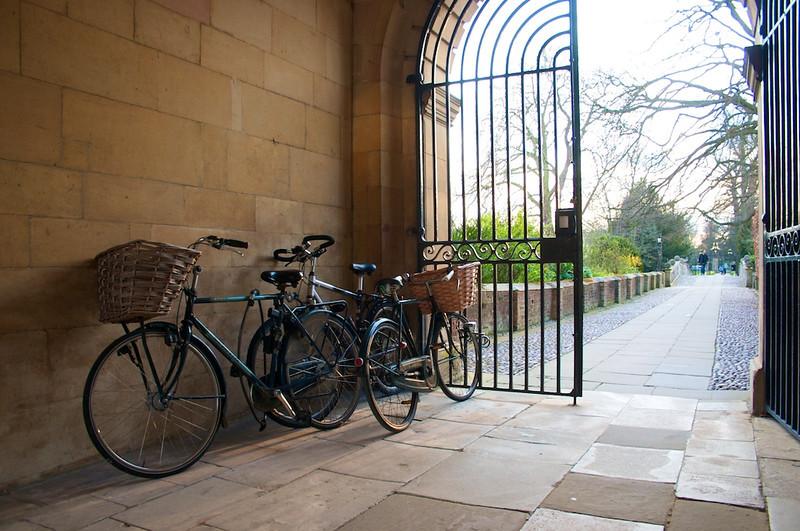 Bikes in Clare College