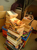 Book stack from above
