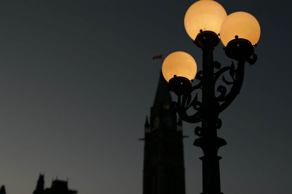 Globe lights at Parliament