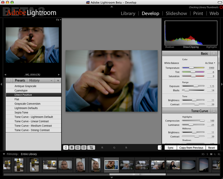 Adobe Lightroom Beta 3
