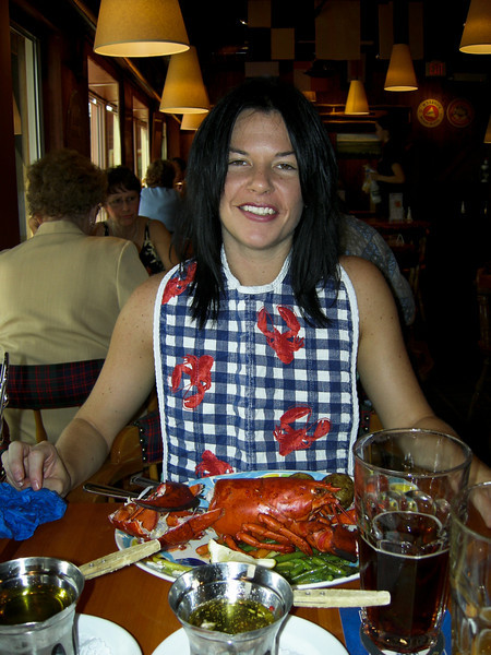 Lobster feast in Lunenburg.