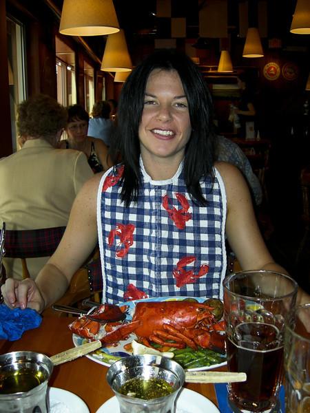 Lobster feast in Lunenburg.