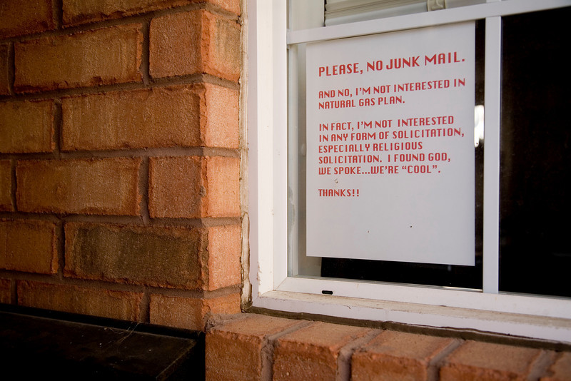 Please, No Junk Mail!
