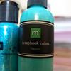 Blue Green Scrapbook Paint & Glitter