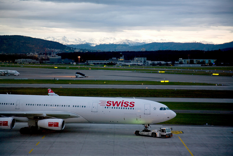 Sunrise operations at Zurich Airport