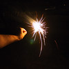 A sparkler on the fourth of july