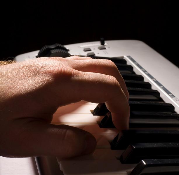 My left hand, my midi controller...