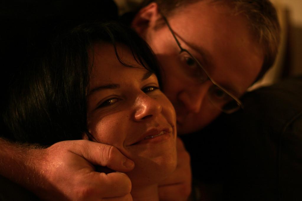 No, I'm not strangling her.