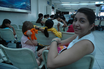 This is after we've gone through 2 security check points, and checked our bags.  We're now waiting for our flight to Boracay.