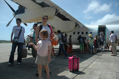 This is us arriving at the Caticlan airport.  Caticlan is right next door to Boracay.