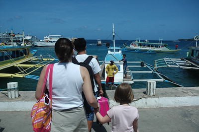 From here, we take the pump boat to Boracay island.