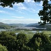 the view of the Hudson highlands, West Point, Bear Mountain Bridge and environs from the front lawn.  Stunning.