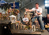 CO7/ Rube Goldberg Project <br /> <br /> Choice 8 of 10<br /> <br /> Andrew Behnke, captain of the University of Wisconsin-Stout team,  <br /> explains the workings of the team's winning Rube Goldberg machine. (Purdue University photo/Mark Simons)