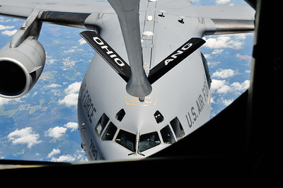 C-17 being refuled