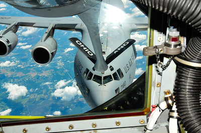 C-17 being refueled