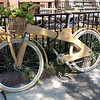 A wooden bicycle!