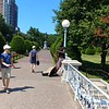The Saxophone player in Boston Common (with Cécile in the far end)...