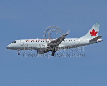 AirCanada Jet On Short Final For Logan Airport's Runway 33 Left - May 28,2006