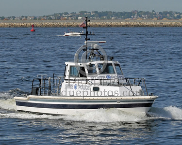 Massachusetts State Police Harbor Unit Underway Towards The Black Falcon Cruise Terminal - May 28,2006