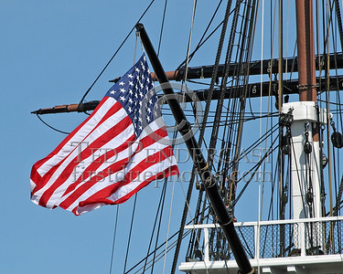 Flag Flying From The USS Constitution - Charlestown Navy Yard - Boston,Mass. - May 28,2006