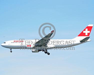 SwissAir Headed For Runway 33 Left At Logan Airport, Boston