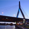 Zakim Bridge from Paul Revere Park, Charlestown. June, 2014.