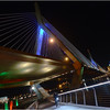 North Bank Pedestrian Bridge and Zakim Bridge. December, 2012.