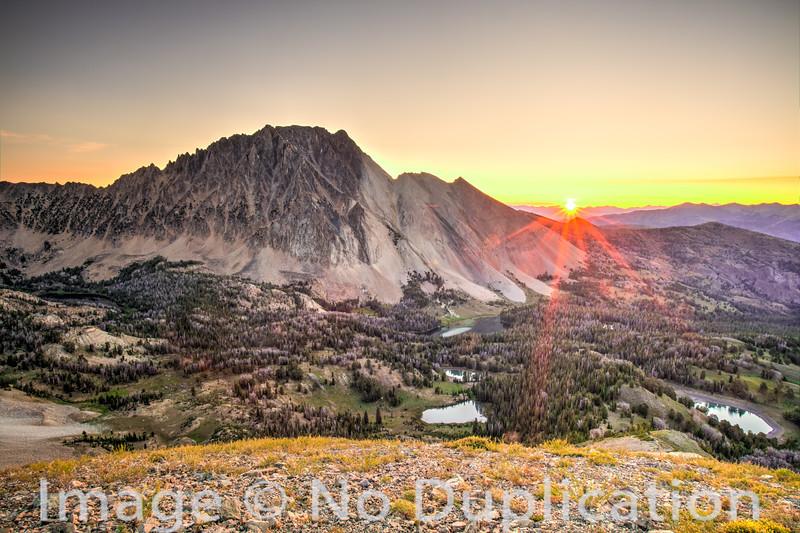 Castle Peak Sunburst