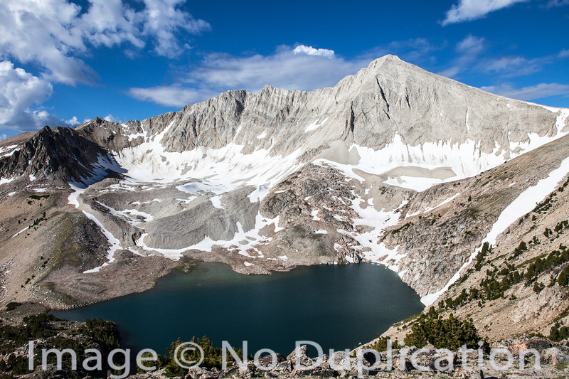 D.O. Lee Peak and Cirque Lake, White Cloud Mountains