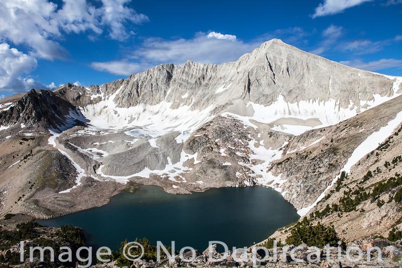 D.O. Lee Peak and Cirque Lake, White Cloud Mountains