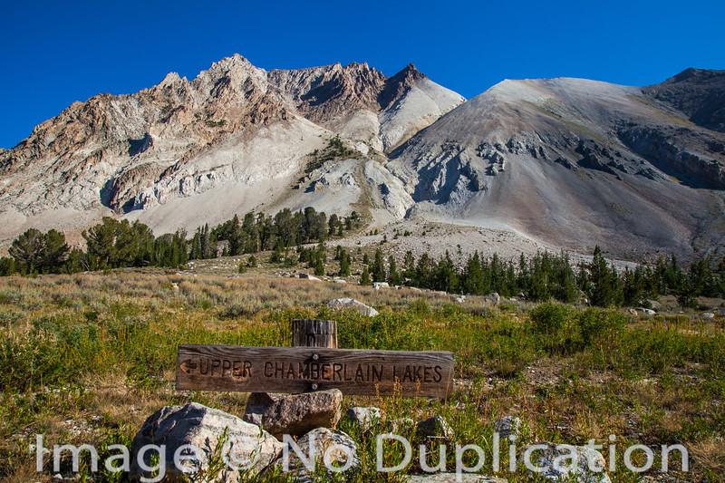 Castle Peak from Chamberlain Basin, White Cloud Mountains, Idaho