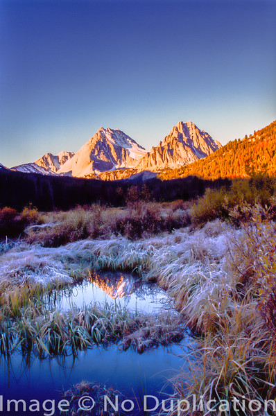 Castle and Merriam Peaks, White Cloud Mountains, Idaho.