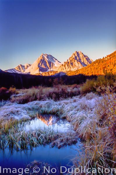 Castle and Merriam Peaks, White Cloud Mountains, Idaho.