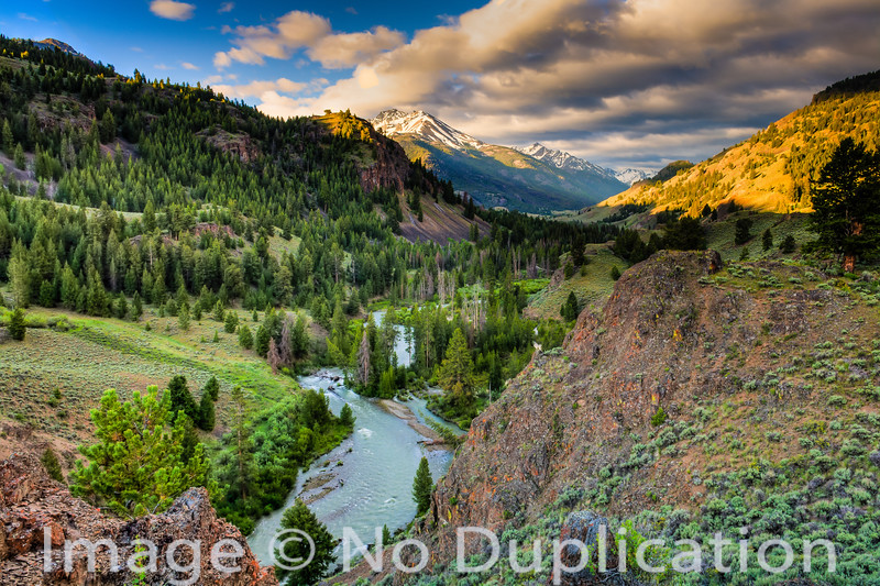 East Fork of the Salmon River and the Boulder Mountains